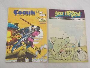 STAR WARS COMIC 1982 TURKISH RARE TURKEY FLINTSTONES SUPERMAN THORGAL C