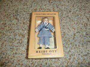 """NIB Heidi Ott  Dollhouse Miniature 1:12 Scale Boy Kid Doll 4"""" #XC028"""