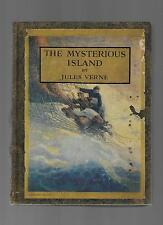 N C Wyeth Illustrated Verne MYSTERIOUS ISLAND 1925 vtg Fighting Men 9 color pics