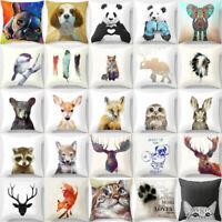 Cute Animal Pillow Cover Throw Pillow Case Sofa Cushion Cover Home Decor 18''