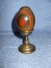 Vintage Van Cort Beautiful Wooden Kaleidoscope EGG With Brass Stand
