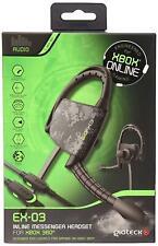 Gioteck EX03 Siguiente Generación Xbox 360 Línea Juegos Online Chat Morral Casco