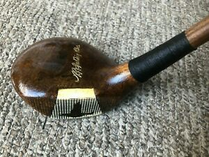 Kro-Flite fancy face!  AG Spalding driver hickory wood shaft golf club