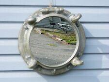 "Silver Resin Porthole Mirror 17"" Diameter  Home Decor"