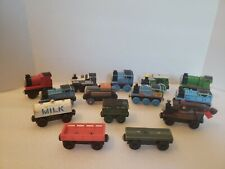 Thomas The Train Wooden Train Custom Bundle Set. Includes 14 Pieces. Used.