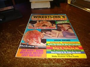 ben strong colletor's issue summer 1975 greatest bouts of all time awa wwf nwa