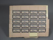 RARE 20 Stamp Full Block Canada Newfoundland Private 1932 Airmail $1 Value #2