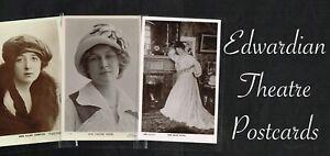 ☆ EDWARDIAN THEATRE ACTRESS ☆ 1900s Postcards LIST 3