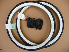 Duro 20x1.75 Whitewall Tyres & Tubes BMX / Kids Bike / Folding Bicycle / Urban