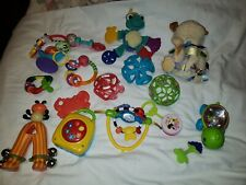 Baby Rattles Teethers Sensory Toys Toddler huge Lot of 16 pieces.