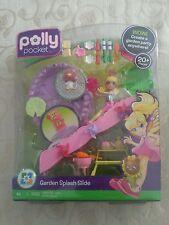 RARE! Polly pocket garden splash slide brand new nib pool bbq doll accessories