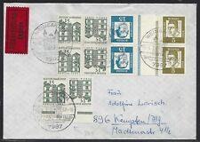 960# BRD K5 HAN auf portogerechte Express Brief Weingarten n. Kempten