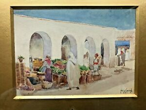 Augustus Morton Hely - Smith RBA RBC 1862 -1941 watercolour painting Arab market