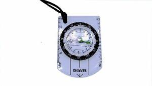 Kartenkompass, NEU, Outdoor, Camping, Peil Kompass, Wandern, 5x7cm, Wasserdicht