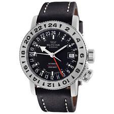 Glycine 3918.19.LB9B Men's Airman 18 GMT Automatic 39mm Black Dial Watch