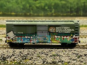N Scale - MTL BC Rail 40' Combination Door Boxcar (Factory Weathered) N5029