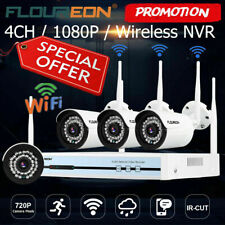 Wireless Security Camera System 4CH HD WiFi 1080P NVR Home Outdoor CCTV Kits