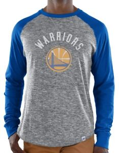 "Golden State Warriors Majestic NBA ""Exposure"" Men's Long Sleeve Gray Slub Shirt"