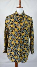 EQUIPMENT FEMME WOMEN'S SZ XS FLORAL SILK BUTTON DOWN LONG SLEEVE SHIRT
