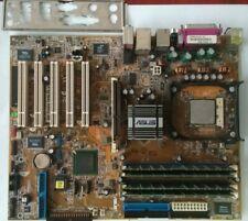 PLACA BASE ASUS P4P800 DELUXE REV 2.0  ZOCALO 478, AGP, CON CPU Y RAM, PERFECTO
