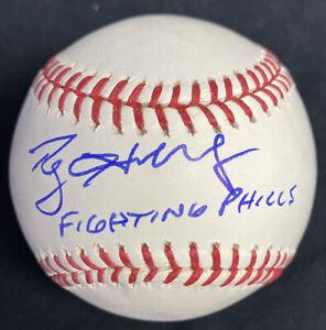 Roy Halladay Fighting Phills Signed Baseball JSA LOA HOF