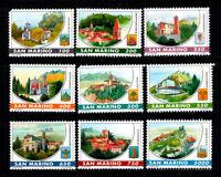 San Marino 1997 Sass. 1547-1555 Nuovo ** 100% Castelli