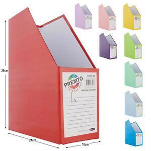 Magazine File Organiser Office School Desk Newspaper Document Storage Box Stand