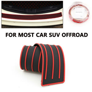 Car Rear Bumper Sill/Protector Plate Rubber Cover Guard Pad Moulding Trim