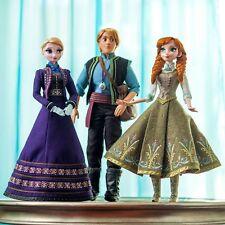 "❄️ Frozen Set Of 3 Designer 17"" Dolls Limited Edition Anna Elsa And Kristoff ❄️"