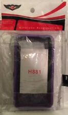 For Huawei Ascend Plus H881C Armor Hybrid Stand Holster Case Black/PURPLE