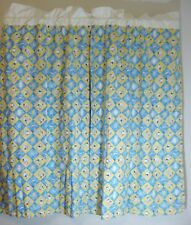 Baby Snoopy Panel Lined Window Curtains Pair Blue Yellow 47""