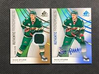 2019-20 SP GAME USED NICO STURM LOT OF 2 AUTHENTIC ROOKIE JERSEY /599 + AUTO