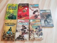 Vintage sci fi book lot Asimov Robert E Howard Day of Triffids Philip K Dick