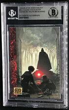 Ralph McQuarrie Artist Topps Card Star Wars Signed Bas Beckett The Skywalkers