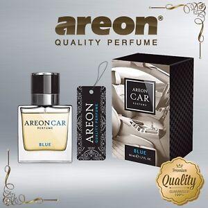 Areon Luxury Car Perfume Long Lasting Air Freshener TOP QUALITY - BLUE 50ml NEW