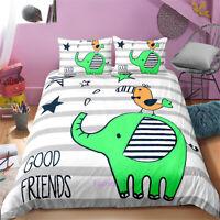 Elephant BIrd Single/Double/Queen/King Bed Doona/Duvet/Quilt Cover Set Linen
