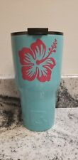 RTIC Hibiscus-Palm Tree Teal 30oz. Tumbler