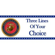US United States Party Supplies MARINE MARINE CORPS Personalized Custom Banner