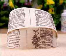 Stunning 100% Cotton Paris Shabby Chic Vintage Ribbon 1 Metre Gifts Crafts etc