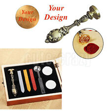 Custom Made Design Logo Wedding Invitations Personal Wax Seal Stamp Box Set Gift