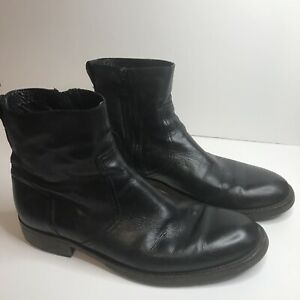 BELSTAFF Mens Atwell Ankle Fashion Boots, Black Leather, Size 42
