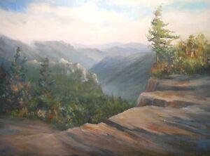 S. Korea, 9x12 original oil painting  Celene Farris. Mountains, National Park