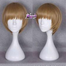 GINTAMA Sougo Okita Short Straight 32cm Cosplay Anime Synthetic Wig+Free Cap