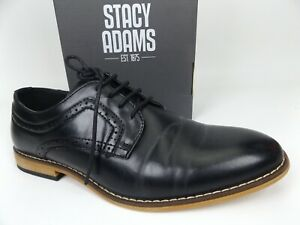 STACY ADAMS Kids' Dickens Lace-up Oxford, Black, Youth Sz 5.5 M, Big Kid   18069