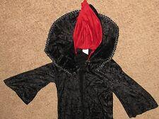Black Red Velvet Size M Royal Robe Costume Coat
