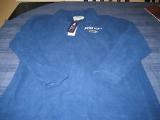 MENS  PENN STATE 1/4 ZIP SWEATER TOP BLUE/WHITE SIZE LARGE MSRP $40  NWT