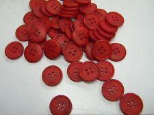 6 boutons  neuf mercerie PLASTIQUE rouge devernois 1.7 cm   lot 755
