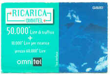 OMNITEL PRIMA RICARICA GSM IN CARTA PER CELLULARI TACS 1999