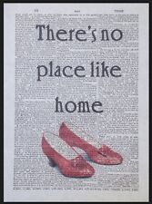 Wizard Of Oz No Place Like Home Quote Vintage Dictionary Page Print Wall Art