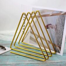 Triangle Book Rack Desktop File Sorter File Holder Organizer for Home Golden